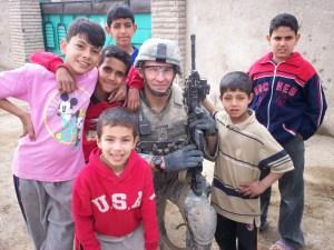 Darrell Jr. with Irai kids