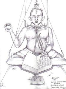 A drawing from the prisoner content website www.concreteechoes.com