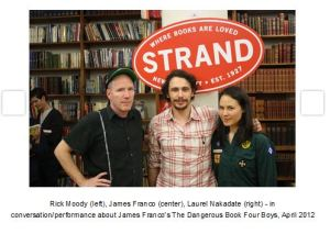James Franco at the Strand